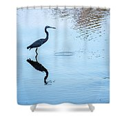 Tricolored Heron Silhouette Shower Curtain