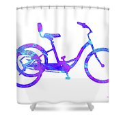 Tricycle Art Shower Curtain