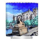 Trieste  Castello Di Miramare Shower Curtain
