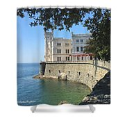 Trieste- Miramare Castle Shower Curtain