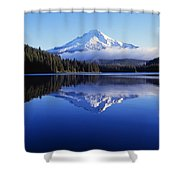 Trillium Lake With Reflection Of Mount Shower Curtain