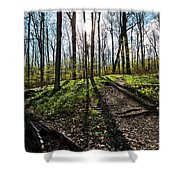 Trillium Trail Shower Curtain