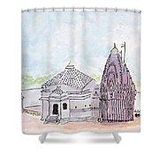 Trimbakeshwar Jyotirlinga Shower Curtain