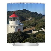 Trinidad Head Memorial Lighthouse, California Lighthouse Shower Curtain