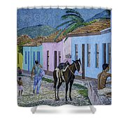 Trinidad Lifestyle 28x22in Oil On Canvas  Shower Curtain