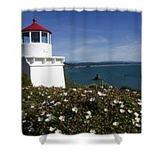 Trinidad Lighthouse California Shower Curtain