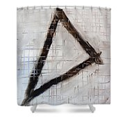 Trinity Channels Abstract Painting Shower Curtain