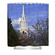 Trinity Church In Spring Shower Curtain