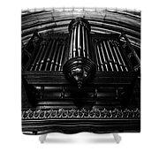 Trinity Church Pipe Organ Shower Curtain