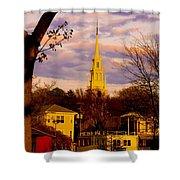 Trinity Church Spring Sunset Shower Curtain