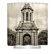 Trinity College Arch - Dublin Ieland - Sepia Shower Curtain