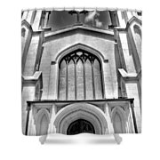 Trinity Episcopal Cathedral Black And White Shower Curtain