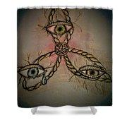 Trinity Eyes Shower Curtain