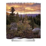 Trinity Mountains Shower Curtain