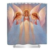 Trinity Of Angels Shower Curtain