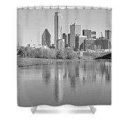 Trinity River Panorama Shower Curtain