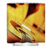 Trio Of Acoustic Guitars Shower Curtain