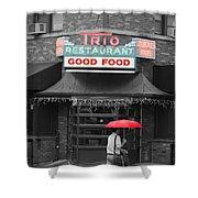Trio Restaurant Shower Curtain