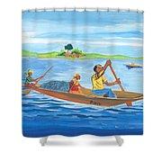 Trip To Lake Kivu In Congo Shower Curtain