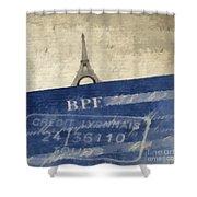Trip To Paris Square Pillow Size Shower Curtain