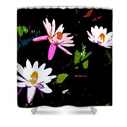 Triple Beauties Shower Curtain