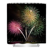 Triple Color Shower Curtain