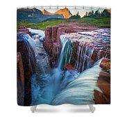 Triple Falls Cascades Shower Curtain
