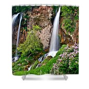 Triple Falls Shower Curtain