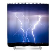 Triple Lightning Shower Curtain by James BO  Insogna