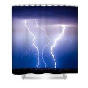 Triple Lightning Shower Curtain