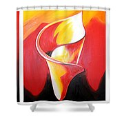 Triple Lily Paintings Shower Curtain