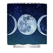 Triple Moon Milkyway Shower Curtain