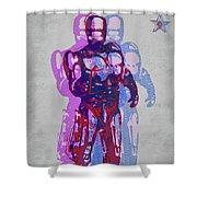 Triple Robocop Rbp Shower Curtain