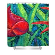 Triple Tease Tulips Shower Curtain