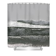 Triple Wave Action Shower Curtain