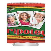 Tripoley Board Game Painting Shower Curtain