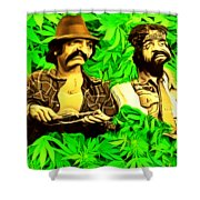 Trippin With Cheech And Chong Shower Curtain