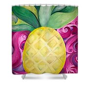 Trippy Pineapple  Shower Curtain