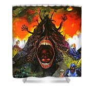 Screams Of Yesterday, Today And Tomorrow Shower Curtain