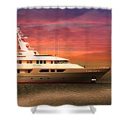 Triton Yacht Shower Curtain by Aaron Berg