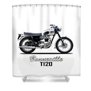 Triumph Bonneville 63 Shower Curtain