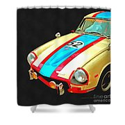 Triumph Gt Pop Art Shower Curtain