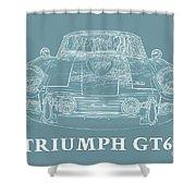 Triumph Gt6 Plus Shower Curtain