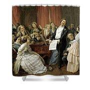 Triumph Of A Tenor At A Musical Matinee Shower Curtain