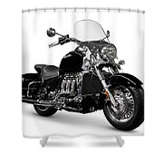 Triumph Rocket IIi Motorcycle Shower Curtain