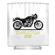 Triumph Thruxton Shower Curtain