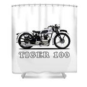 Triumph Tiger 100 1939 Shower Curtain