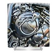 Triumph Tiger 800 Xc Engine Shower Curtain
