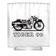 Triumph Tiger 90 1937 Shower Curtain