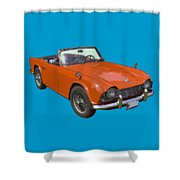 Triumph Tr4 - British - Sports Car Shower Curtain